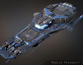 Praetor Gunship 3D asset