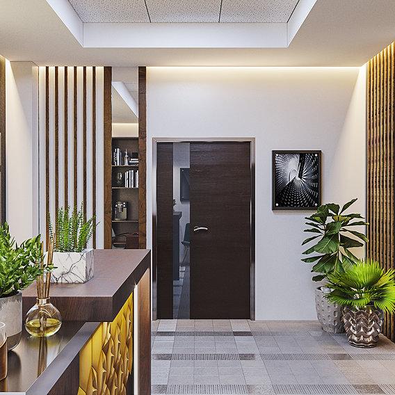 Interior design for Ofice entrance by 3DAG