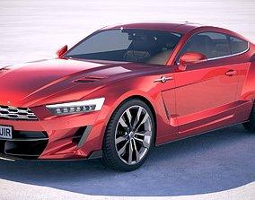 Generic Muscle Car v2 2018 3D model