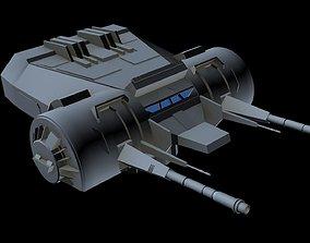 3D model Turbolaser canon 4