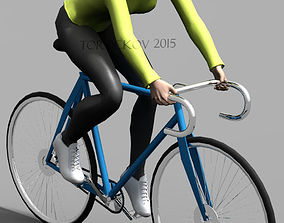 Girl Bycicle 3D model