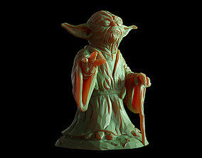 Yoda Lowpoly Sculpture fan 3d print model