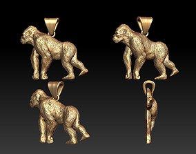 3D printable model Gorilla pendant
