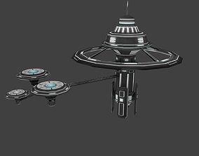 3D model Low poly Space Station