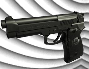 3D asset game-ready Beretta 92FS