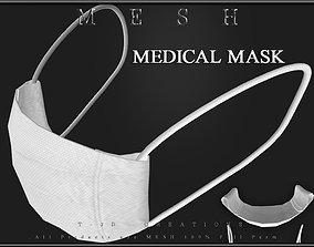 Medical Face Mask 02 3D asset