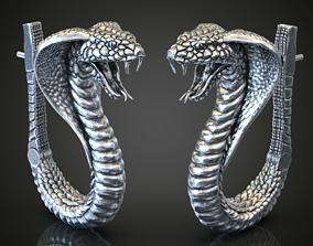 Cobra snake earrings serpent 3D printable model