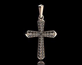 Stylish cross with precious stones 488 3D print model
