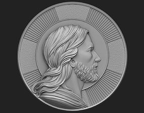 3D printable model Medallion of Jesus no 2