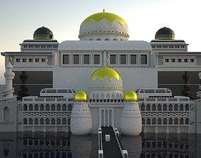 Huge masjid in ocean 3D model