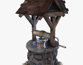 3D model animated Water Well