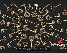 PBR Medieval Keys Sets 01-05 AR low-poly 3D model