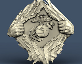 3d STL model for CNC hands and flag