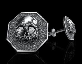 3D printable model Earrings studs skull