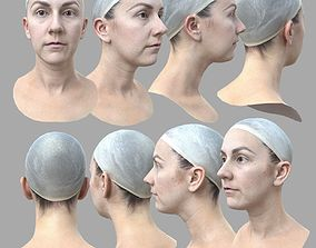 AAA Quality Realistic Female Head Scan 3D asset
