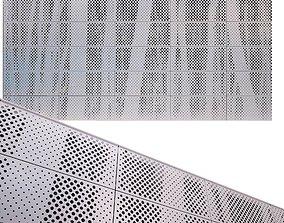 3D model perforated metal panel N19