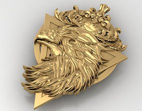 3D printable model mold eagle pendant