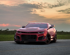 Chevrolet Camaro ZL1 1LE Widebody kit 3D