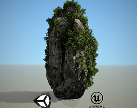 Asia Limestone Rock 4k Game Ready Game Model 3D asset