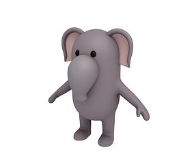 3D model Cartoon Elephant