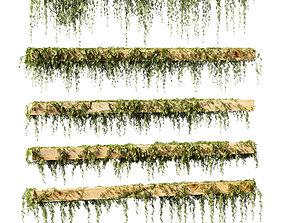 Leaves for beams v2 - 5 models plant 3D