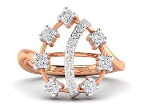 Women Ring 3dm stl render detail ring