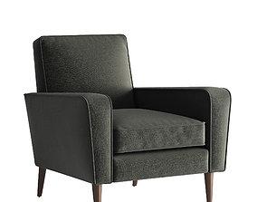 3D Crate and Barrel Torino Velvet Chair