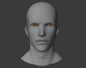 wellmade man head base mesh with highpol head sample 3D