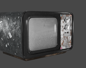 3D model The TV is made in the blender program