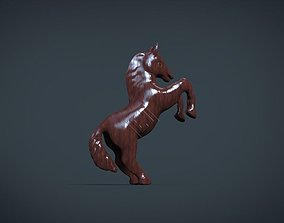 Horse On Two Legs gallop 3D printable model
