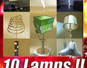 3D model 10 Modern Floor Lamps