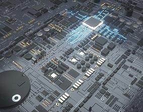 CPU motherboard 3D