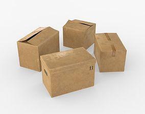 3D asset Cardoard boxes