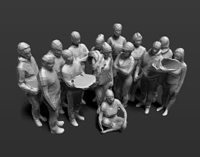 low-poly 3d scans