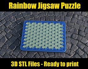 3D printable model Rainbow Jigsaw Puzzle