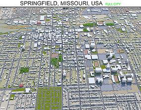 3D asset Springfield Missouri USA 30km