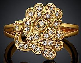 3D printable model peacock ring