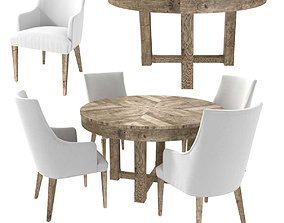 Restoration Hardware ELLA ARMCHAIR and CAYDEN DINING 3D