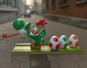 Baby Mario and Yoshi 3D print model