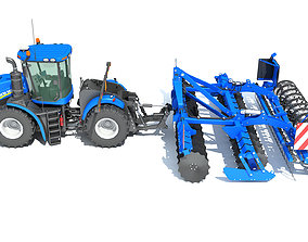 3D Tractor Seed Drill New Holland
