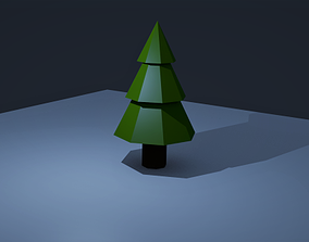 Polygonal Miratox Tree 3D model