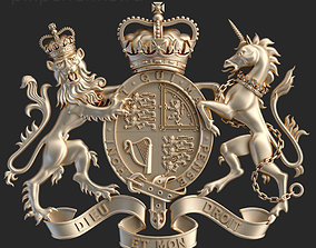 3D print model Coat of arms of United Kingdom government 1