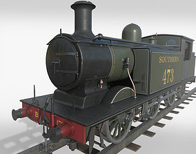 Steam Train 3D model realtime