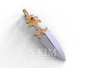 Dagger pendant 3D printable model