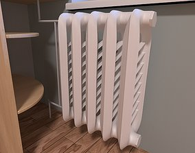 Old style home heating radiator 3D model