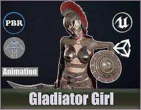 3D asset Gladiator Girl