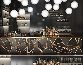 cocktail Backlit bar 3D model