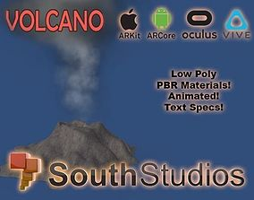 animated Animated Volcano AR VR Unity 3dsmax