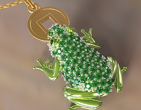 3D printable model Chinese Money Frog toad with coin 2