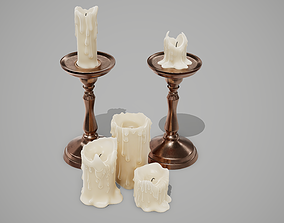 Candles 3D asset low-poly